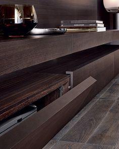 Descarregue o catálogo e solicite preços de Sintesi By poliform, módulo de arrumação de parede secional lacada com suporte para tv design Carlo Colombo