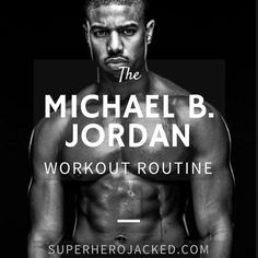 Michael B. Jordan Workout: Learn how Michael B. Jordan trained and the workout and diet he used to prepare to become Killmonger and more. Ready to try? Michael B Jordan, Workout Routine For Men, Gym Workout Tips, Fun Workouts, Workout Men, Men Exercise, Body Workouts, Morning Workouts, Lifting Workouts