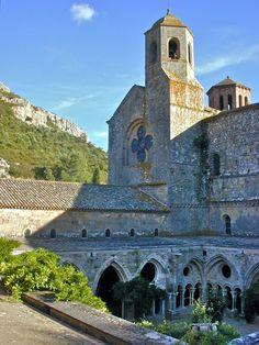 L'Abbaye Sainte-Marie de Fontfroide in Narbonne, France | Aude département in the Languedoc-Roussillon Region