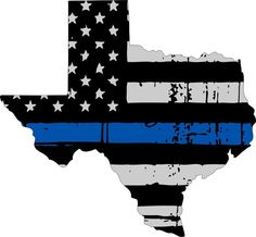 """Tattered Thin Blue Line State of Texas Decal-4"""" x 4.3"""" REFLECTIVE Exterior Decal"""