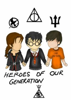 Heroes of our generation: Katniss, Harry, and Percy.