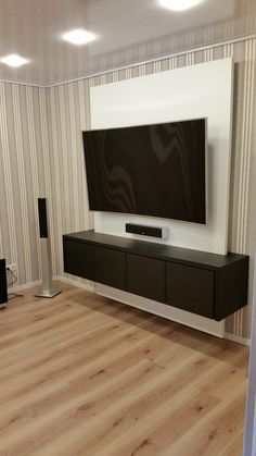 References - TV WALL TV wall TV wall from the carpenter's handcarpenter Diy Tv Wall Mount, Best Tv Wall Mount, Wall Mounted Tv, Tv Furniture, Furniture Design, Modern Tv Wall Units, Tv Wall Decor, Wall Tv, Tv Wall Design