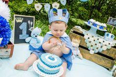 Ideas For Birthday Cake Baby Boy Birthday Cake Kids Boys, Baby Boy 1st Birthday, Mom Birthday Gift, Prince Birthday Party, Birthday Party Themes, Baby Shower Decorations For Boys, 1st Birthdays, Birthday Photos, Cake Smash