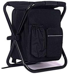 2f69d916ff4c Amazon.com   HANERDUN 3 in 1 Backpack Cooler Chair Travel Backpack Soft  Sided Cooler Bag Outdoor Hiking Events Beach Fishing Camping   Sports    Outdoors