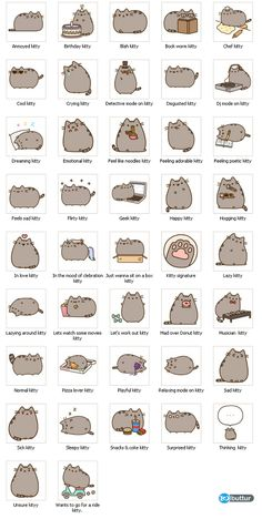 all pusheen stickers: all pusheen stickers
