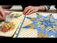 """Turn Quilt Panels into Chenille Quilts. Fabric by """" Springs"""" called Stay Warm Panel Chenille Cutter -you can get these . Easy Hand Quilting, Easy Quilts, Quilting Tips, Quilting Tutorials, Chenille Crafts, Chenille Blanket, Chenille Fabric, Patchwork Patterns, Quilt Patterns Free"""