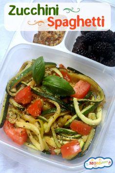 Zucchini Pasta - Low Carb and Gluten Free Spaghetti. Shannon said it's delicious :)