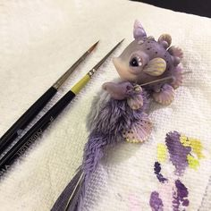 #wip on my tiniest seahorse. He's finally starting to come together and I love all the tiny detail painting. Can't wait to see him done   #seahorse #seacreatures #polymer #polymerart #polymerclay #polymercreature #polymerdoll #artdoll #artdollwip #ooak #ooakdoll #ooakcreature