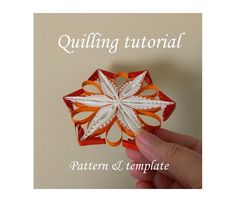 Paper Quilling supply Pattern Template Make your by evascreation