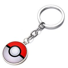 CG Costume Pokemon Go KeyChain PokeBall Key Ring Alloy Silver