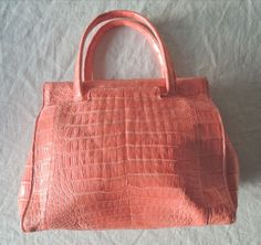 AUTHENTIC $3.8K NANCY GONZALEZ PINK CORAL CROCODILE TOTE BAG (DIVINE!) ~  #NancyGonzalez #TotesShoppers