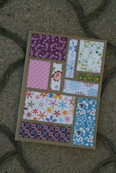 Patchwork greeting cards