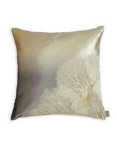 Aviva Stanoff Nature Inscribed Square Pillow - Silver