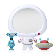 Nuby Awesome Astronaut Mirror Interactive Baby Bath Toy Set for Fun Bath Time Bath Crayons, Bath Toy Organization, Baby Bath Toys, Floating In Water, Best Bath, Fine Motor Skills, Bath Time, Astronaut, Mirror