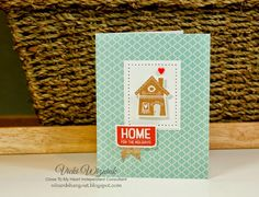 Simple Christmas card using CTMH Home for the Holidays SOTM stamp set (available until Oct. 31st). by Vicki Wizniuk