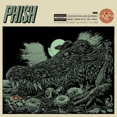 Phish Posters, Concert Posters, Music Posters, Screen Print Poster, New Poster, Ken Taylor, Trey Anastasio, Pop Culture Art, Madison Square Garden