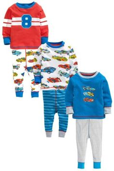 Buy Three Pack Racing Car Snuggle Pyjamas (9mths-8yrs) from the Next UK online shop