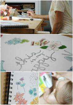 Such a lovely honest blog about family and art. Hello Hue