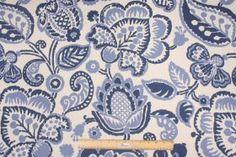 P. Kaufmann :: Kaufmann Rava Printed Cotton Drapery Fabric in Periwinkle $11.95 per yard - Fabric Guru.com: Fabric, Discount Fabric, Upholst...