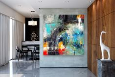 Items similar to Large Abstract Canvas Art,Extra Large Abstract Canvas Art,painting on canvas,modern abstract,extra large wall art on Etsy Large Abstract Wall Art, Canvas Wall Art, Large Painting, Textured Painting, Gold Canvas, Painting Art, Bright Paintings, Unique Paintings, Art Paintings