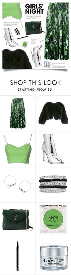 """Hey, Besties: Girls' Night"" by marina-volaric ❤ liked on Polyvore featuring Christian Wijnants, Adrienne Landau, Moschino Cheap & Chic, ALDO, Effy Jewelry, Yves Saint Laurent, NYX, GlamGlow and girlsnight"