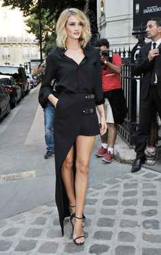 Rosie Huntington-Whiteley - Vogue Party arrival, Paris, July 6, 2015.