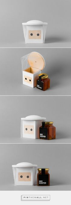 Beekeeper honey packaging by Busy Bee - http://www.packagingoftheworld.com/2017/09/beekeeper.html