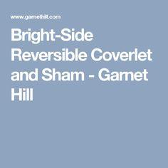 Bright-Side Reversible Coverlet and Sham - Garnet Hill