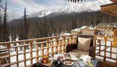A haven of indulgence in the ski resort of Gulmarg, high in the Himalayas - The Khyber Himalayan Spa & Resort Small Luxury Hotels, Luxury Spa, House Balcony Design, Winter Balcony, Balkon Design, Relaxing Holidays, Fine Hotels, Lounge, Best Spa