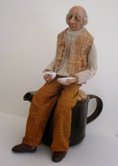 Empress Wu Designs: Exhibitions There was an old man from Vienna, Who lived on a tincture of Senna, When that did not agree he drank camomile tea, That nasty old man of Vienna. #tea bag art