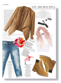 """""""STREET STYLE"""" by gaellerached ❤ liked on Polyvore featuring Sans Souci, Timberland, Valentino, Bobbi Brown Cosmetics and Elizabeth Arden"""