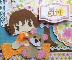 TWAG 12X12 3D Premade Scrapbook Page Paper Piecing Girl Baby Daughter *Pearl*