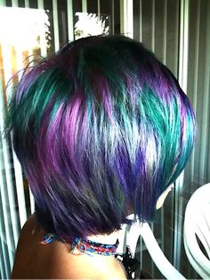 Goldwell Elumen, apparently has the most permanent unnatural colors on the market. i'm so geeked there might be a salon near by that can do this for me. debt free me will be a blue haired me. coming soon.