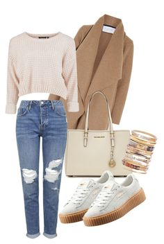 """Cream"" by leonie-maria ❤ liked on Polyvore featuring Harris Wharf London, MICHAEL Michael Kors, Topshop, Puma, Ashley Pittman and LMFashion"