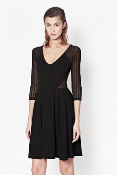 Liv Sheer Flared Dress - Sale - French Connection Usa