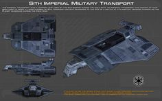 Sith Imperial Military Transport ortho [Updated] by unusualsuspex on DeviantArt