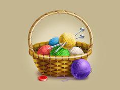Wicker basket grandmother by Kirill