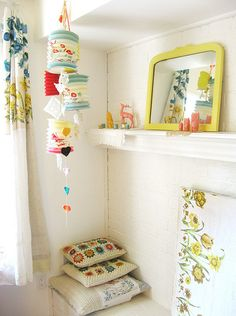 Happy corner - Lanterns over a changing table would be a cute idea!