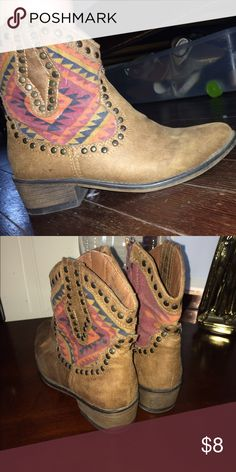 Cowboy boots Cowboy boots I bought them for a rodeo never wore them again Just collecting dust there a great pair Shoes Heeled Boots