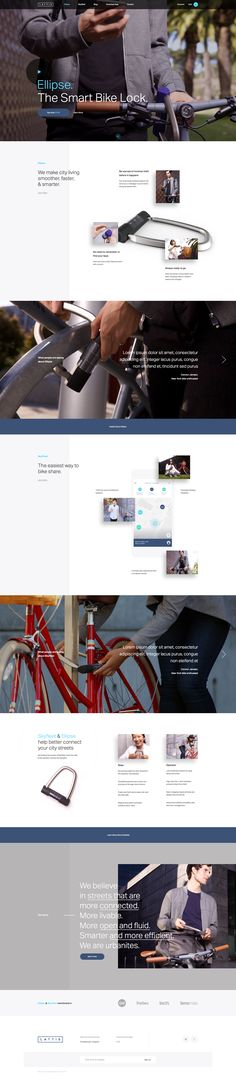 Lattis Smart Bike Lock – Unused Ui design concept for the marketing website, by Elegant Seagulls.