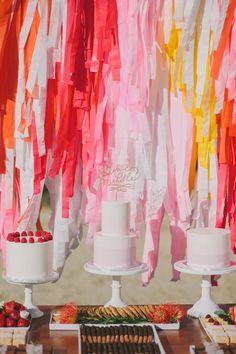 Streamer cake backdrop | 100 Layer Cake
