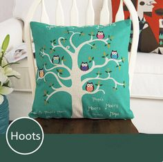 Find More Pillow Case Information about Pattern Hoots Fashion Linen Cushion Cover Home Decorative  Pillowcase Bedroom Pillowcover 45*45cm,High Quality sofa mechanism,China sofa cushion stuffing Suppliers, Cheap sofa with corner table from Winne on Aliexpress.com