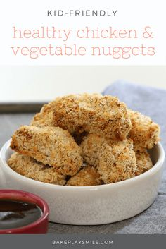 healthy Chicken & Vegetable Nuggets