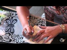 How to Make a Stencil for Pottery Using Adhesive Stencil Film and a Screen - YouTube