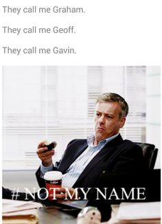 #SPOILERS #Sherlock #Series3 - Lestrade. It makes me happy every time I see Geoff spelled correctly.