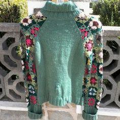 Crochet Coat, Crochet Shoes, Crochet Trim, Crochet Clothes, Wool Applique Patterns, Crochet Patterns, Vintage Knitting, Hand Knitting, Crochet Infinity Scarf Free Pattern