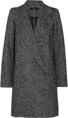 Bouclé Tweed Coat - Lyst