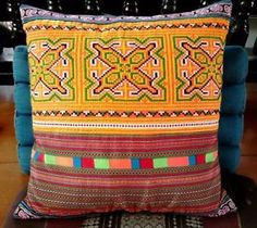 What a great way to upcycle the fabric from an old Hmong tribal skirt