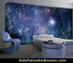 ohpopsi galaxy childrens wallpaper mural feature wall for an outer