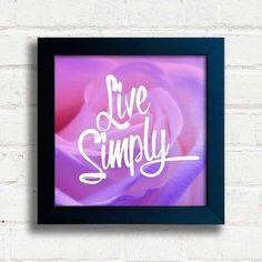 Quadro Live Simply - comprar online